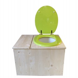 toilette sèche avec bac à copeaux de bois - la vert pomme