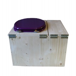 toilette sèche avec bac à copeaux de bois - la violet prune