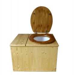 Toilette sèche huilée avec bac à copeaux de bois - La Bac Bambou