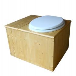 Toilette sèche huilée avec bac à copeaux de bois - La Bac blanche