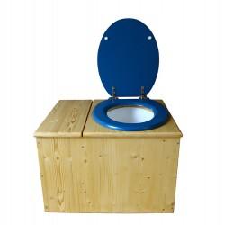 Toilette sèche huilée avec bac à copeaux de bois - La Bac bleu nuit
