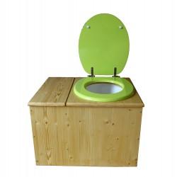 Toilette sèche huilée avec bac à copeaux de bois - La Bac vert pomme