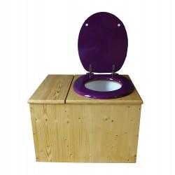 Toilette sèche huilée avec bac à copeaux de bois - La Bac violet prune
