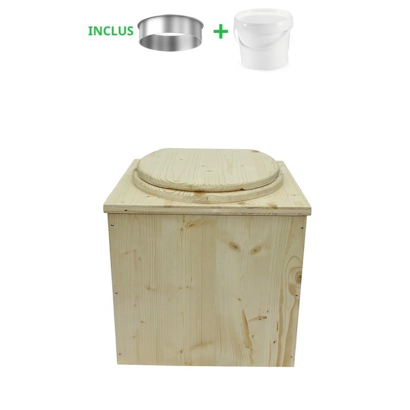 toilette sèche pas cher complète avec seau et bavette inox
