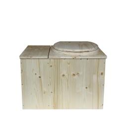 Toilette sèche en bois avec bac à copeaux de bois