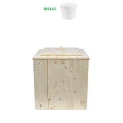 toilette sèche pas chère avec seau plastique 20 litres