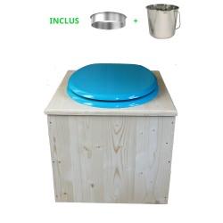 Toilette sèche - La Bleu turquoise inox