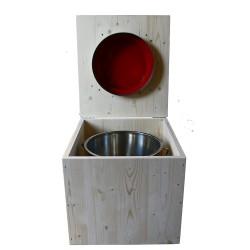 Toilette sèche - La rouge framboise inox