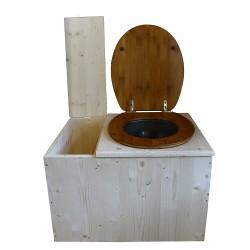 Toilette sèche avec bac à copeaux de bois - La Bac Bambou inox