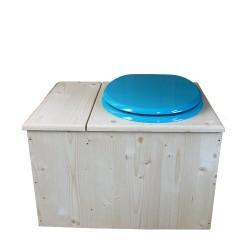 Toilette sèche avec bac à copeaux de bois, seau inox - La Bac Bleu turquoise inox