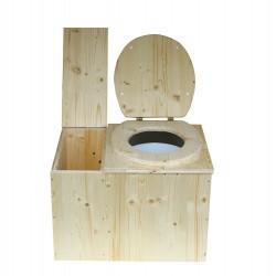Toilette sèche intérieure avec bac à copeaux de bois