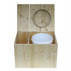 Toilette sèche avec bac à copeaux, sciure de bois