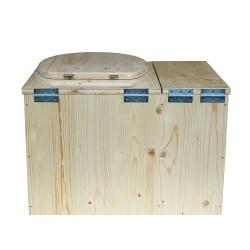Toilette sèche écologique d'intérieur avec bac à copeaux de bois