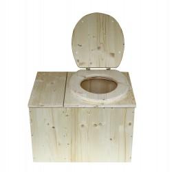 wc sec avec bac à copeaux de bois