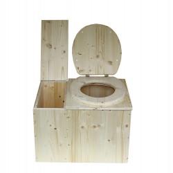 wc sec écologique avec bac à copeaux de bois