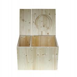 toilette sans eau avec bac à copeaux de bois