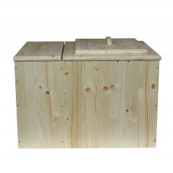 Toilette sèche pas chère avec bac à copeaux de bois