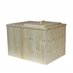 toilette sèche en bois premier prix avec bac