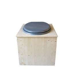 Toilette sèche - La gris clair inox