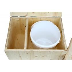 toilette sèche avec bac livrée avec un seau plastique 20 litres