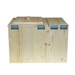 Toilette sèche avec bac à copeaux premier prix - wc sec écologique en bois