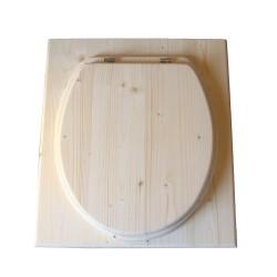 toilette sèche en bois complète avec seau inox et bavette inox