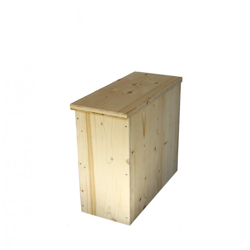Bac à copeaux de bois avec couvercle pour toilette sèche