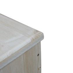 Bac à copeaux, sciure de bois avec couvercle pour toilette sèche - modèle brut rehaussé