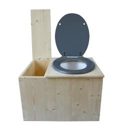 toilette sèche avec bac à copeaux de bois - la bac gris clair
