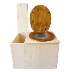 Toilette sèche avec bac à copeaux de bois - La Bac Bambou complète