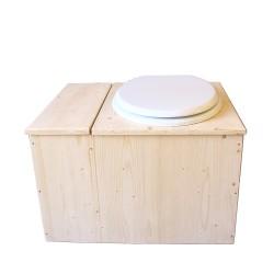 Toilette sèche avec bac à copeaux de bois - La Bac Blanche complète