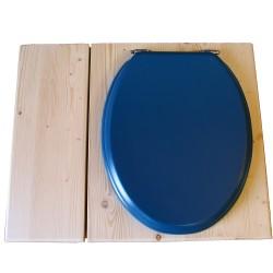 Toilette sèche avec bac à copeaux de bois - La Bac Bleu nuit complète