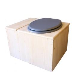 Toilette sèche avec bac à copeaux de bois - La Bac gris clair complète