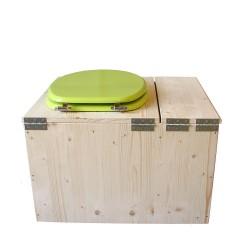 Toilette sèche avec bac à copeaux de bois - La Bac vert pomme complète
