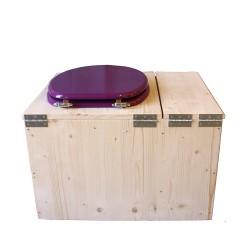 Toilette sèche avec bac à copeaux de bois - La Bac violet prune complète