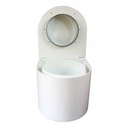 toilette sèche arrondie blanche