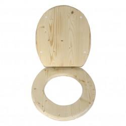abattant bois brut spécial toilette sèche