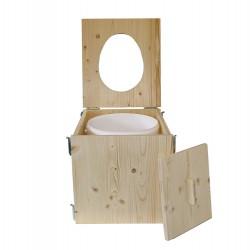 toilette sèche de voyage en bois