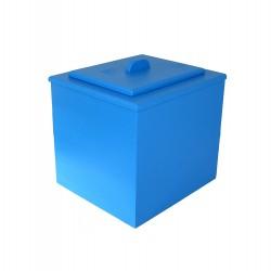Toilette sèche pas chère de couleur bleue