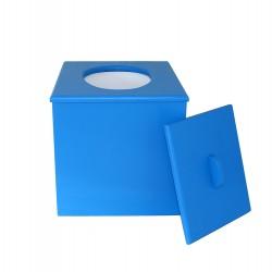Toilette sèche à petit prix prêt à l'emploi de couleur bleue
