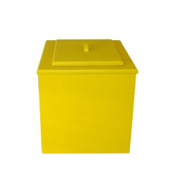 toilette sèche de couleur jaune pas chère avec seau plastique 20 litres