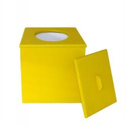 Toilette sèche à petit prix prêt à l'emploi de couleur jaune