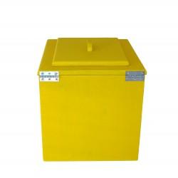Toilette sèche pas chère en bois jaune