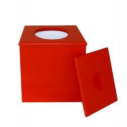 Toilette sèche à petit prix prêt à l'emploi de couleur rouge