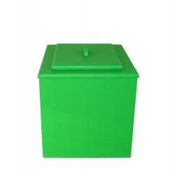 toilette sèche de couleur vert pas chère avec seau plastique 20 litres
