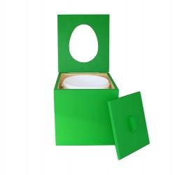 Toilette sèche à petit prix prêt à l'emploi de couleur vert
