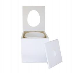 Toilette sèche à petit prix prêt à l'emploi de couleur blanc