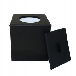 Toilette sèche à petit prix prêt à l'emploi de couleur noir