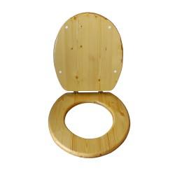 abattant bois huilé spécial toilette sèche