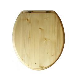 ensemble abattant et lunette pour toilette sèche en bois huilé
